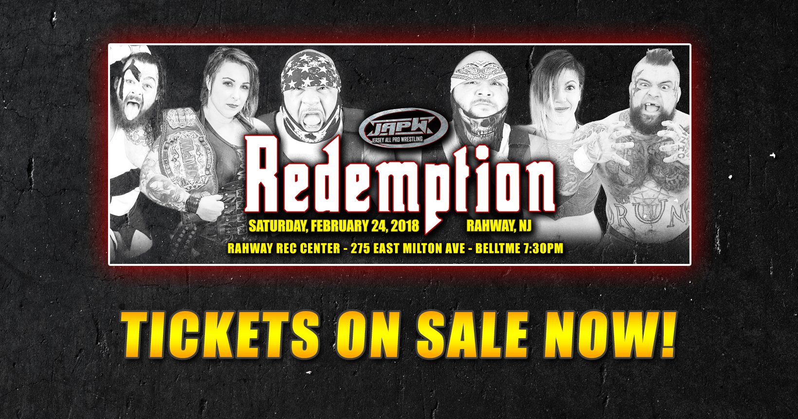 2/24 Redemption Tickets on sale now