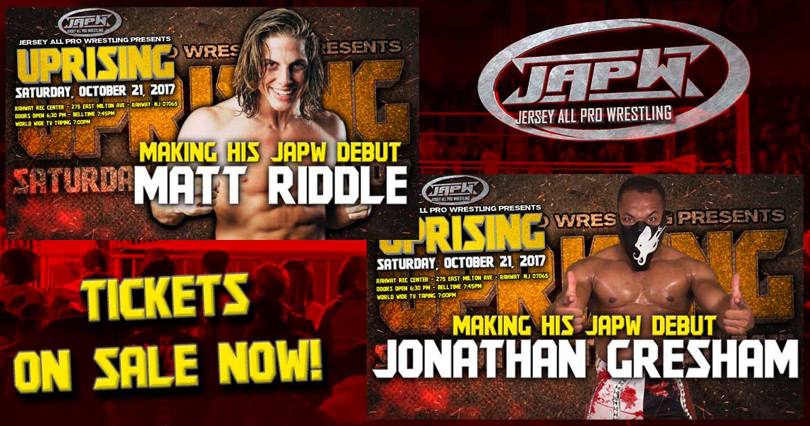 Matt Riddle and Jonathan Gresham to debut 10/21 in Rahway, NJ!