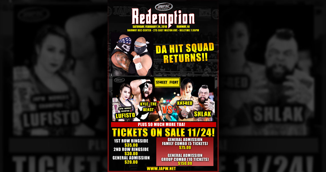 JAPW 2/24 Redemption Tickets On Sale 11/24!