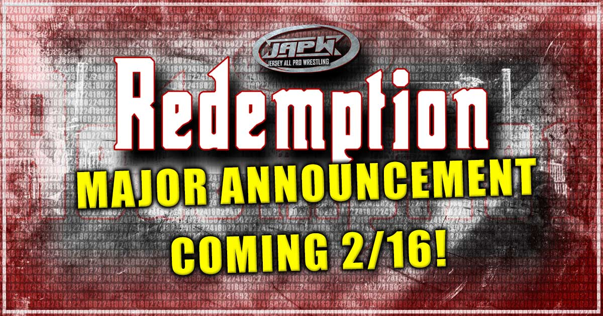 Major Announcement on Redemption Coming 2/16